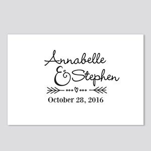 Couples Names Wedding Personalized Postcards (Pack