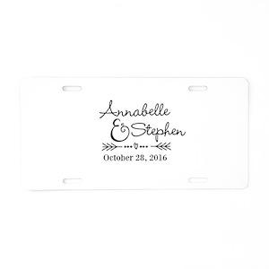 wedding aluminum license plates cafepress