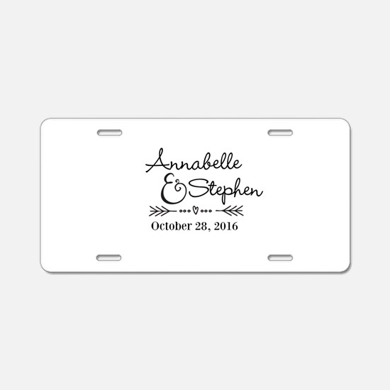 Couples Names Wedding Personalized Aluminum Licens