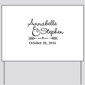 Couples Names Wedding Personalized Yard Sign