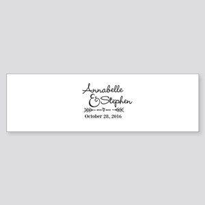 Couples Names Wedding Personalized Bumper Sticker
