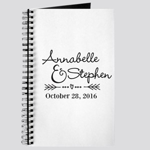 Couples Names Wedding Personalized Journal