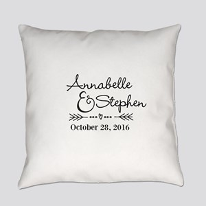 Couples Names Wedding Personalized Everyday Pillow