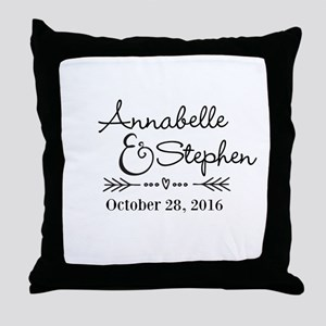 Couples Names Wedding Personalized Throw Pillow