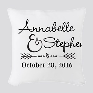 Couples Names Wedding Personalized Woven Throw Pil