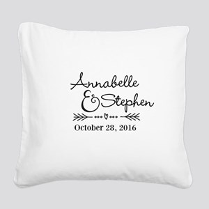 Couples Names Wedding Personalized Square Canvas P