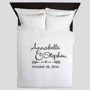 Couples Names Wedding Personalized Queen Duvet