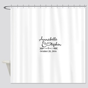 Couples Names Wedding Personalized Shower Curtain