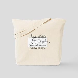 0ca7738a6e1f06 Couples Names Wedding Personalized Tote Bag