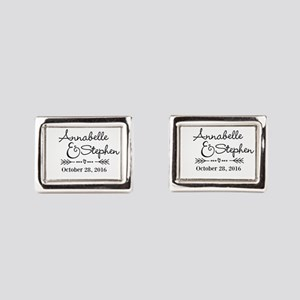 Couples Names Wedding Personalized Rectangular Cuf