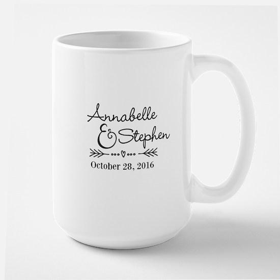 Couples Names Wedding Personalized Mugs