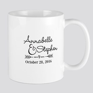 Couples Names Wedding Personalized Mugs