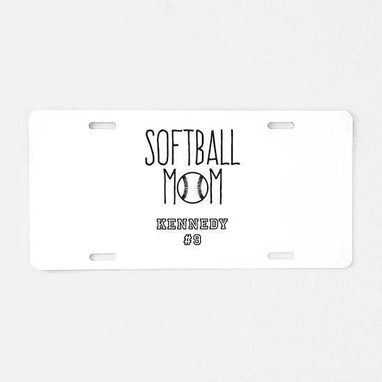 Personalized Softball Mom Aluminum License Plate