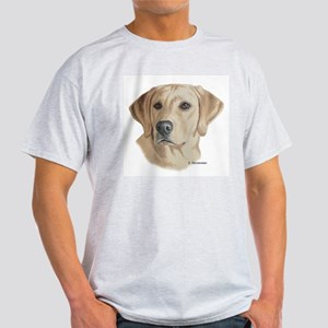 Young Yellow Lab Ash Grey T-Shirt