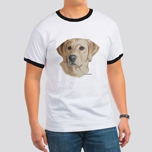 Young Yellow Lab Ringer T