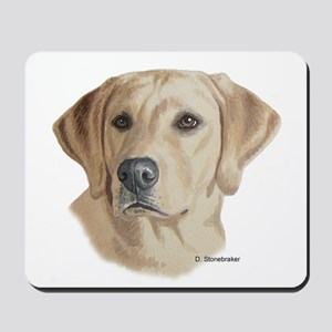 Young Yellow Lab Mousepad