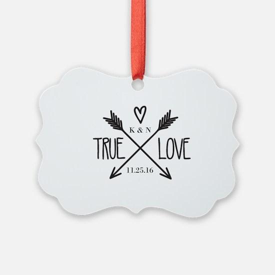 Personalized True Love Arrows Ornament