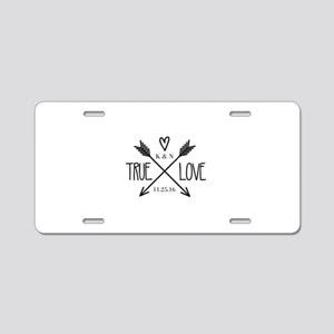 Personalized True Love Arrows Aluminum License Pla
