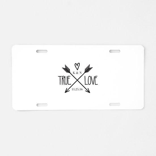Personalized True Love Arrows Aluminum License Pla