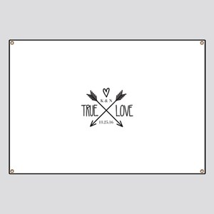 Personalized True Love Arrows Banner