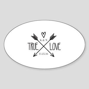 Personalized True Love Arrows Sticker
