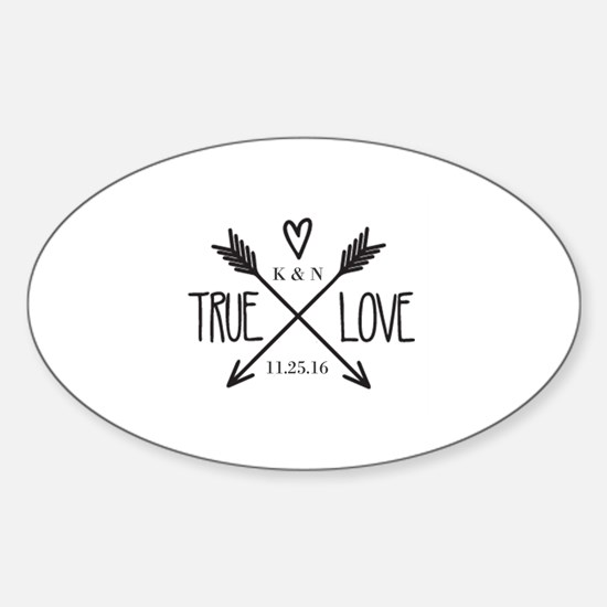 Personalized True Love Arrows Decal
