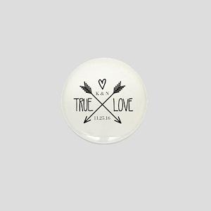 Personalized True Love Arrows Mini Button