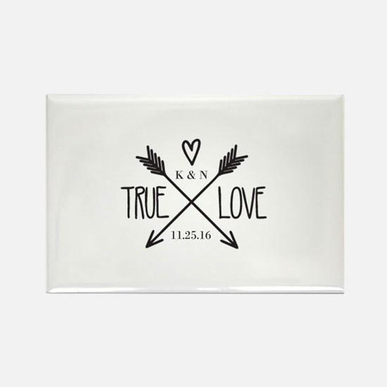 Personalized True Love Arrows Magnets