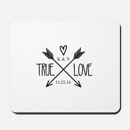 Personalized True Love Arrows Mousepad