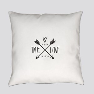 Personalized True Love Arrows Everyday Pillow