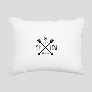 Personalized True Love Arrows Rectangular Canvas P
