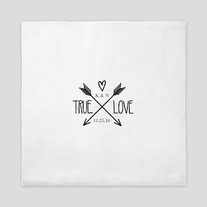 Personalized True Love Arrows Queen Duvet