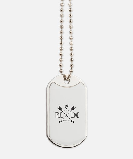 Personalized True Love Arrows Dog Tags