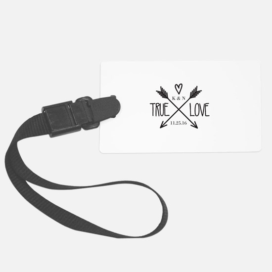 Personalized True Love Arrows Luggage Tag