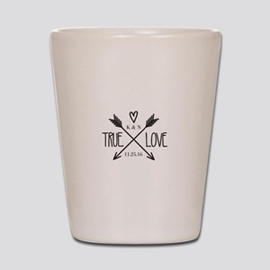 Personalized True Love Arrows Shot Glass