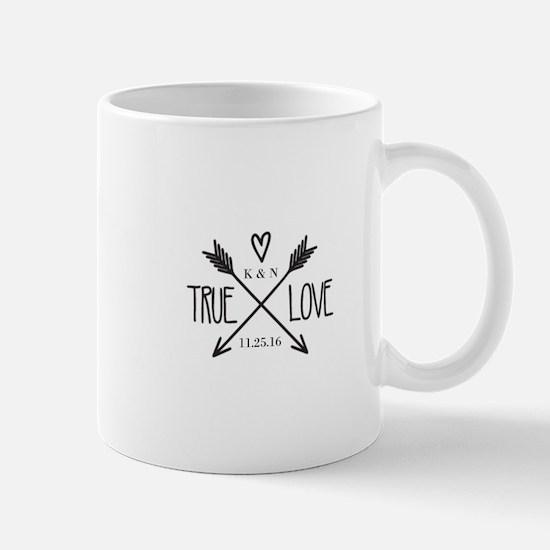Personalized True Love Arrows Mugs