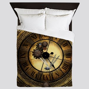 Wonderful steampunk desisgn, clocks and gears Quee