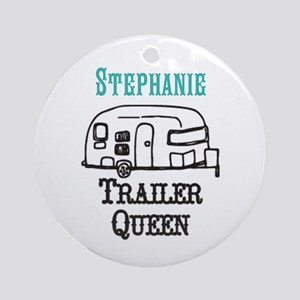 Custom Trailer Queen Round Ornament