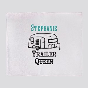 Custom Trailer Queen Throw Blanket