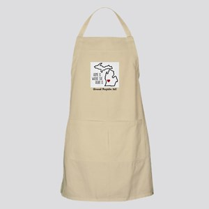 Personalized Michigan Heart Apron