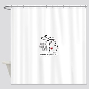 Personalized Michigan Heart Shower Curtain