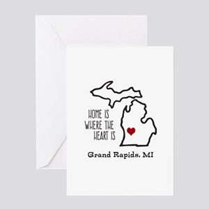 Michigan greeting cards cafepress personalized michigan heart greeting cards m4hsunfo
