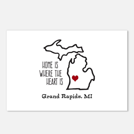 Personalized Michigan Heart Postcards (Package of