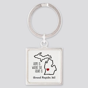 Personalized Michigan Heart Keychains