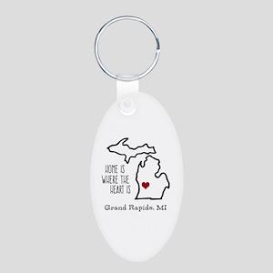 Personalized Michigan Heart Keychains