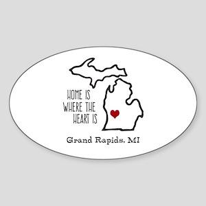 Personalized Michigan Heart Sticker