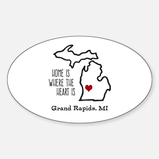 Personalized Michigan Heart Decal
