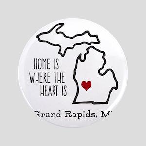 Personalized Michigan Heart Button