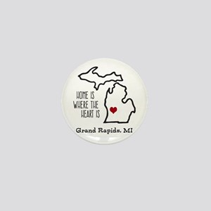 Personalized Michigan Heart Mini Button
