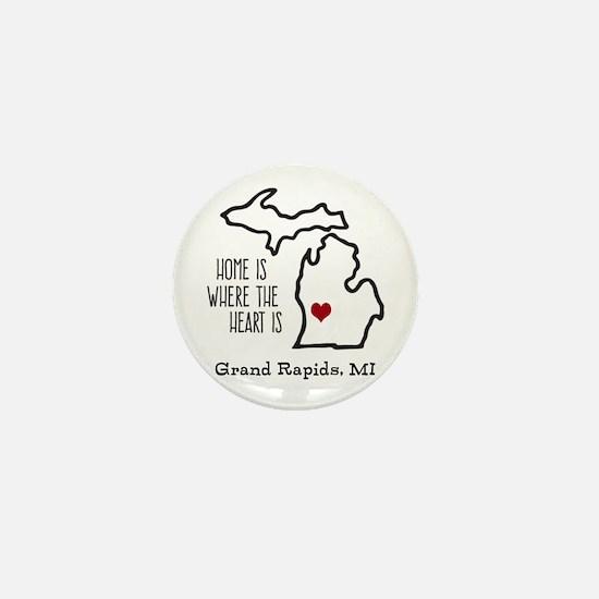 Personalized Michigan Heart Mini Button